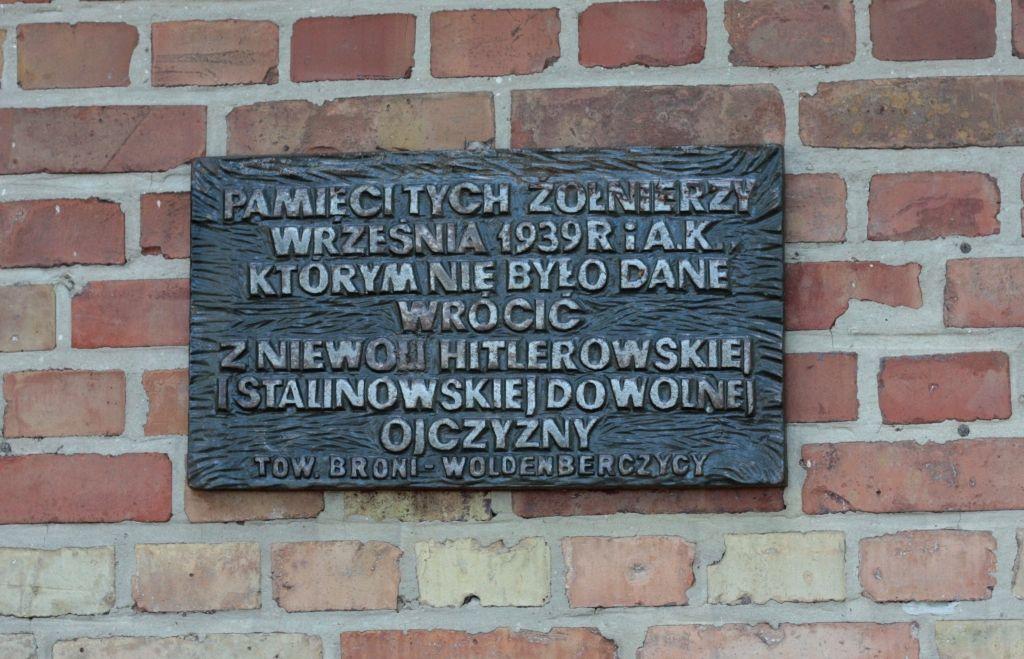 muzeum - tablica pamiątkowa skradziona 4.08.2016r.